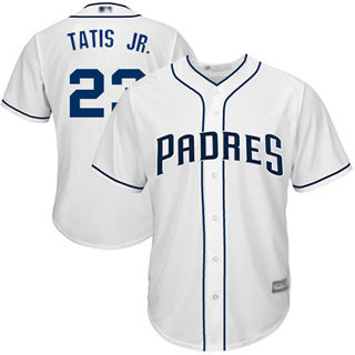 Men's Padres #23 Fernando Tatis Jr. White New Cool Base Stitched Baseball Jersey