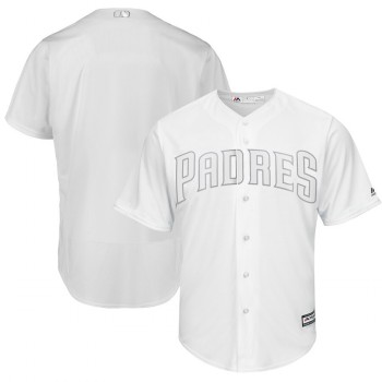 Men's Padres Blank White 2019 Players' Weekend Player Jersey