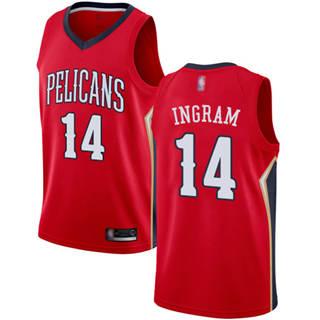 Men's Pelicans #14 Brandon Ingram Red Basketball Swingman Statement Edition Jersey