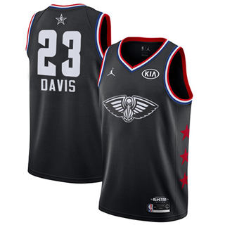 Men's Pelicans #23 Anthony Davis Black Basketball Jordan Swingman 2019 All-Star Game Jersey