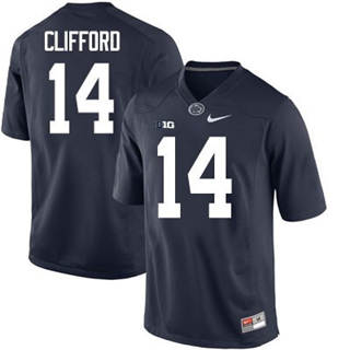Men's Penn State Nittany Lions #14 Sean Clifford Jersey Navy NCAA