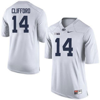 Men's Penn State Nittany Lions #14 Sean Clifford Jersey White NCAA