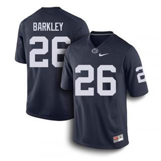 Men's Penn State Nittany Lions #26 Saquon Barkley Jersey Navy NCAA