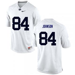 Men's Penn State Nittany Lions #84 Juwan Johnson White Football Jersey
