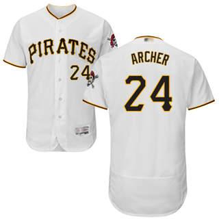 Men's Pirates #24 Chris Archer White Flexbase  Collection Stitched Baseball Jersey