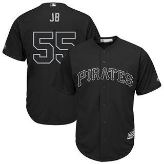 Men's Pirates #55 Josh Bell Black JB Players Weekend Cool Base Stitched Baseball Jersey