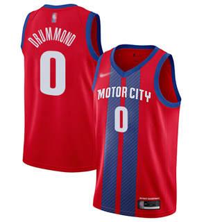 Men's Pistons #0 Andre Drummond Red Basketball Swingman City Edition 2019-2020 Jersey