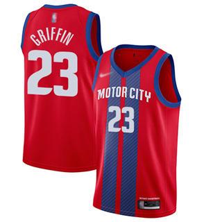 Men's Pistons #23 Blake Griffin Red Basketball Swingman City Edition 2019-2020 Jersey