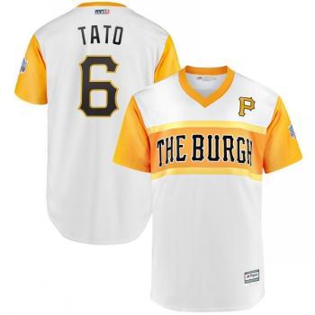 Men's Pittsburgh Pirates #6 Starling Marte Tato White 2019 Baseball Little League Classic Player Jersey