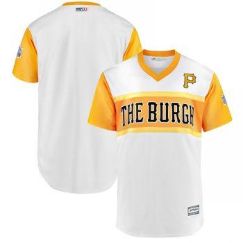 Men's Pittsburgh Pirates Blank White 2019 Baseball Little League Classic Team Jersey