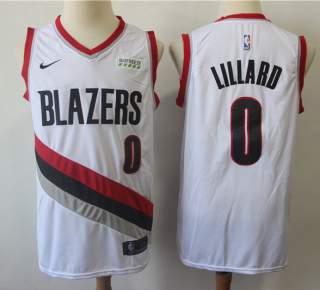 Men's Portland Trail Blazers #0 Damian Lillard White Basketball Swingman Association Edition Jersey
