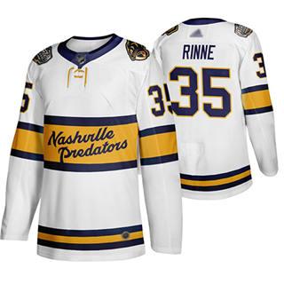 Men's Predators #35 Pekka Rinne White Authentic 2020 Winter Classic Stitched Hockey Jersey