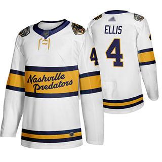 Men's Predators #4 Ryan Ellis White Authentic 2020 Winter Classic Stitched Hockey Jersey