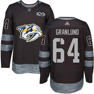 Men's Predators #64 Mikael Granlund Black 1917-2017 100th Anniversary Stitched Hockey Jersey
