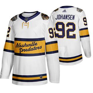 Men's Predators #92 Ryan Johansen White Authentic 2020 Winter Classic Stitched Hockey Jersey