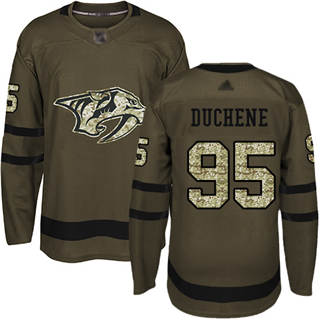 Men's Predators #95 Matt Duchene Green Salute to Service Stitched Hockey Jersey