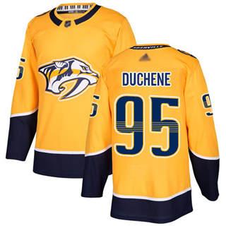 Men's Predators #95 Matt Duchene Yellow Home  Stitched Hockey Jersey