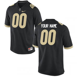 Men's Purdue Boilermakers Custom Name Number Black College Football Jersey