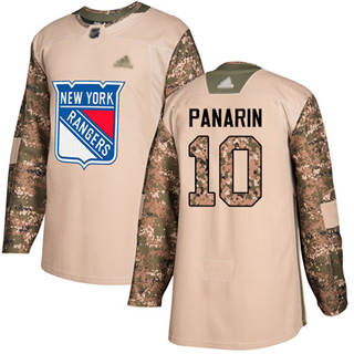 Men's Rangers #10 Artemi Panarin Camo  2017 Veterans Day Stitched Hockey Jersey