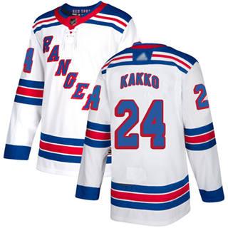 Men's Rangers #24 Kaapo Kakko White Road Authentic Stitched Hockey Jersey