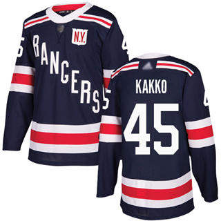 Men's Rangers #45 Kaapo Kakko Navy Blue Authentic 2018 Winter Classic Stitched Hockey Jersey