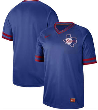 Men's Rangers Blank Royal  Cooperstown Collection Stitched Baseball Jersey