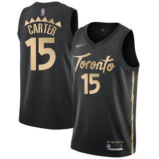 Men's Raptors #15 Vince Carter Black Basketball Swingman City Edition 2019-2020 Jersey