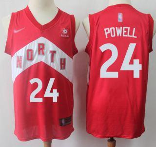 Men's Raptors #24 Norman Powell Red Basketball Swingman Earned Edition Jersey