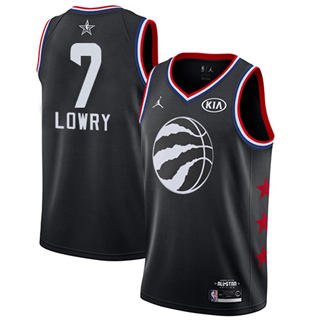 Men's Raptors #7 Kyle Lowry Black Basketball Jordan Swingman 2019 All-Star Game Jersey