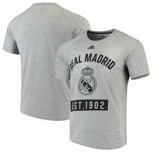 Men's Real Madrid  Ultimate Pass T-Shirt– Heathered Gray