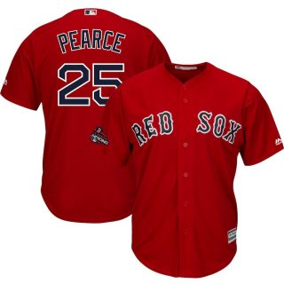 Men's Red Sox #25 Steve Pearce Scarlet Alternate 2018 World Series Champions Stitched Baseball Jersey