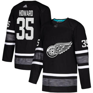 Men's Red Wings #35 Jimmy Howard Black  2019 All-Star Stitched Hockey Jersey