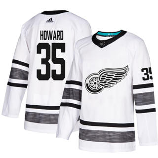 Men's Red Wings #35 Jimmy Howard White  2019 All-Star Stitched Hockey Jersey