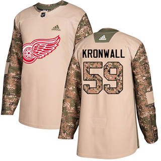 Men's Red Wings #59 Niklas Kronwall Camo  2017 Veterans Day Stitched Hockey Hockey Jersey