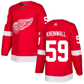 Men's Red Wings #59 Niklas Kronwall Red Home  Stitched Hockey Jersey