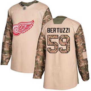 Men's Red Wings #59 Tyler Bertuzzi Camo  2017 Veterans Day Stitched Hockey Jersey