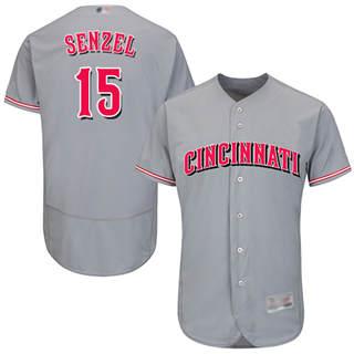 Men's Reds #15 Nick Senzel Grey Flexbase  Collection Stitched Baseball Jersey