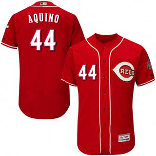 Men's Reds #44 Aristides Aquino Red Flexbase  Collection Stitched Baseball Jersey