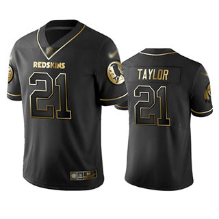 Men's Redskins #21 Sean Taylor Black Stitched Football Limited Golden Edition Jersey