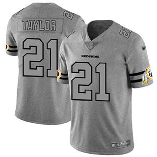 Men's Redskins #21 Sean Taylor Gray Stitched Football Limited Team Logo Gridiron Jersey