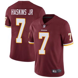 Men's Redskins #7 Dwayne Haskins Jr Burgundy Red Team Color Stitched Football Vapor Untouchable Limited Jersey