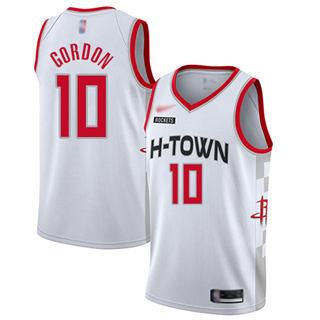 Men's Rockets #10 Eric Gordon White Basketball Swingman City Edition 2019-2020 Jersey