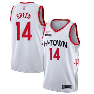 Men's Rockets #14 Gerald Green White Basketball Swingman City Edition 2019-2020 Jersey