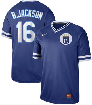 Men's Royals #16 Bo Jackson Royal  Cooperstown Collection Stitched Baseball Jersey