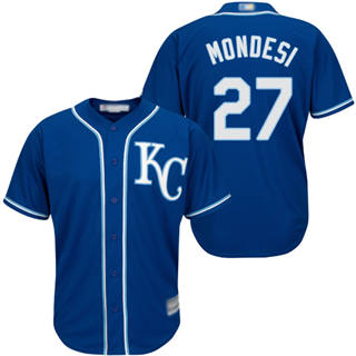 Men's Royals #27 Raul Mondesi Blue Cool Base Stitched Baseball Jersey