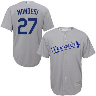 Men's Royals #27 Raul Mondesi Grey Cool Base Stitched Baseball Jersey