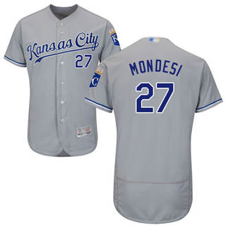 Men's Royals #27 Raul Mondesi Grey Flexbase  Collection Stitched Baseball Jersey