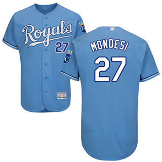 Men's Royals #27 Raul Mondesi Light Blue Flexbase  Collection Stitched Baseball Jersey
