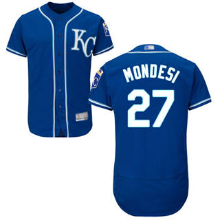 Men's Royals #27 Raul Mondesi Royal Blue Flexbase  Collection Stitched Baseball Jersey