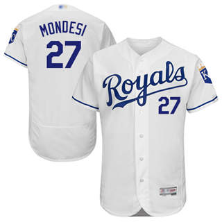 Men's Royals #27 Raul Mondesi White Flexbase  Collection Stitched Baseball Jersey